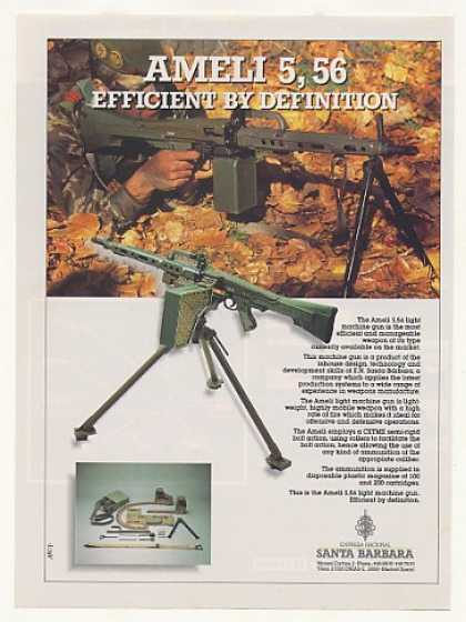 '88 Santa Barbara Ameli 5.56 Light Machine Gun Photo (1988)