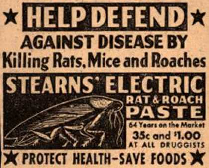 Stearns – Help Defend Against Disease By Killing Rats, Mice and Roaches (1942)