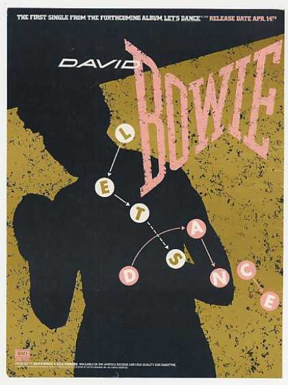David Bowie Let's Dance Single & Album Promo (1983)
