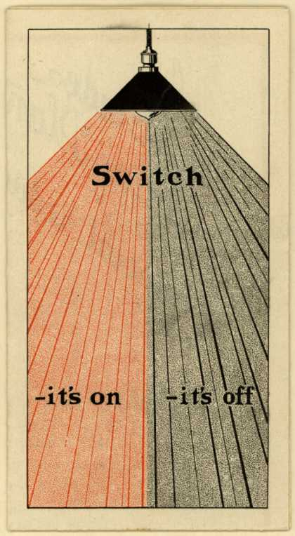 Rumely Products Company's Generator – Switch -it's on -it's off