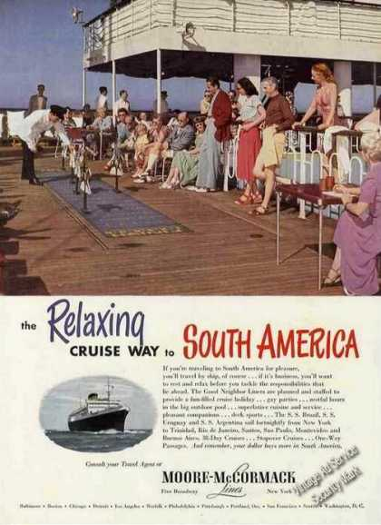 Relaxing Cruise To S. America Moore-mccormack (1950)