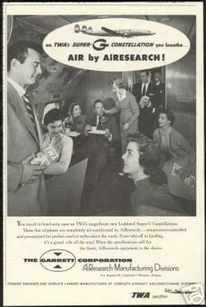 TWA Consellation Garrett Corp Airesearch (1955)