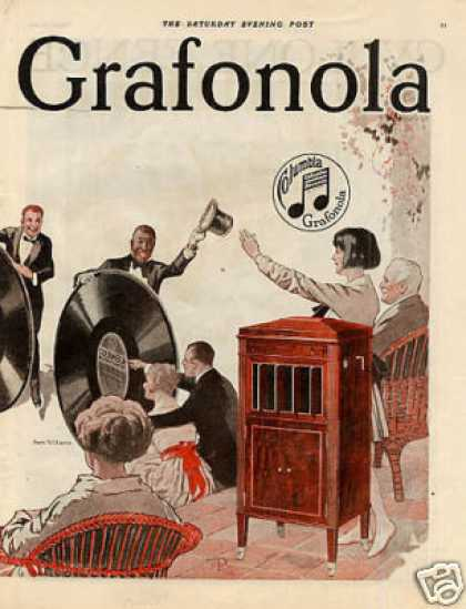 Columbia Grafonola Color Ad Centerfold (1921)