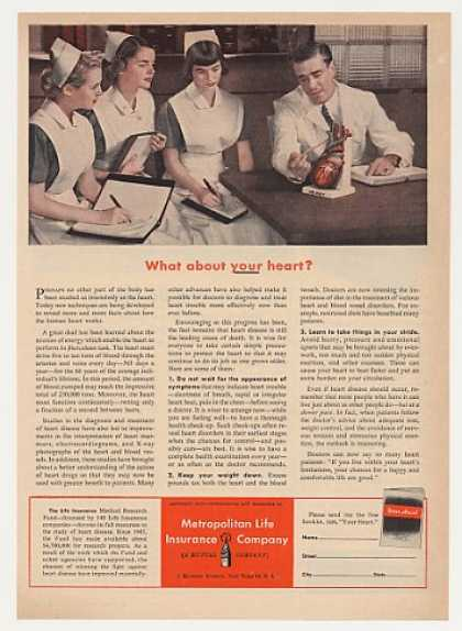 Nurses Doctor Your Heart Met Life Insurance (1953)