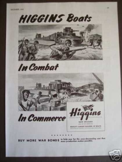 Higgins Landing Boat War Bonds Art (1943)