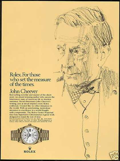 Novelist John Cheever Rolex Day Date Watch (1980)