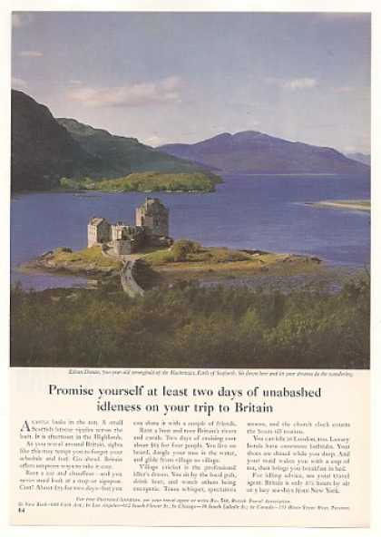 '64 Eilean Donan Castle Britain British Travel Photo (1964)