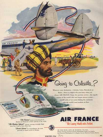 Air France – Going to Calcutta? (1953)