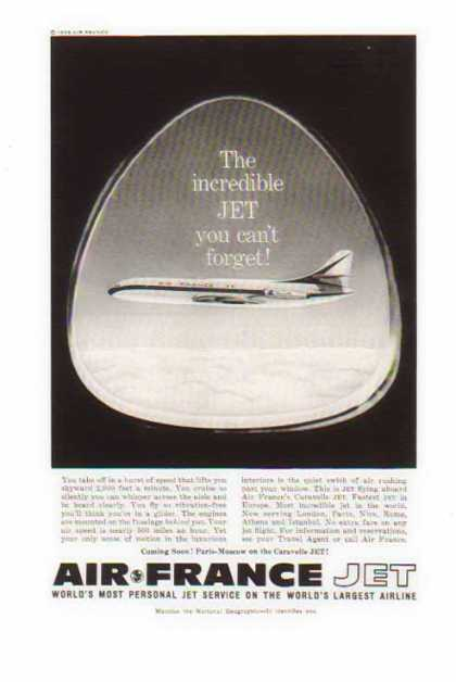 Air France Airlines – The incredible Jet you can't forget (1959)
