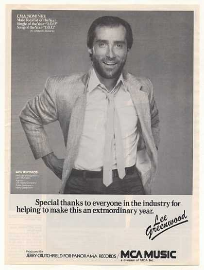 Lee Greenwood MCA Music Photo (1983)