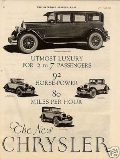 Chrysler Imperial Cars Ad 2 Page (1926)