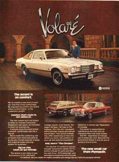 Chrysler Car – Plymouth Volare / White 3 Cars (1976)