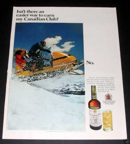 Canadian Club Whisky, Snowmobile (1970)