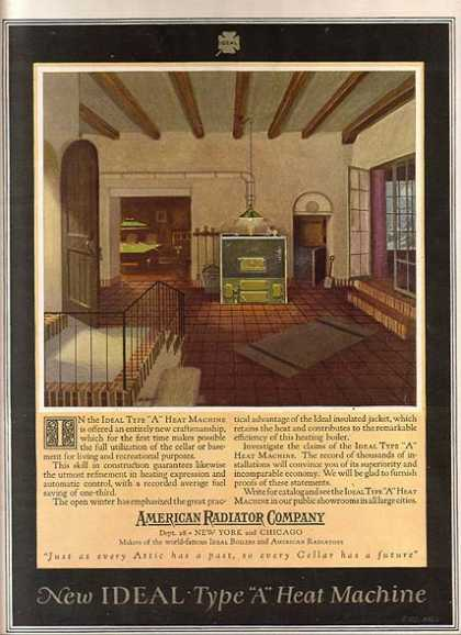 "American Radiator Company's Ideal Type ""A"" Heat Machine (1921)"