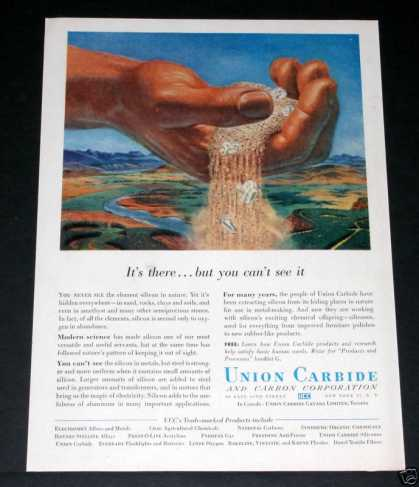 Old , Union Carbide, Silicon Is It (1956)