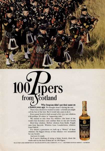 Seagram 100 Pipers From Scotland (1965)