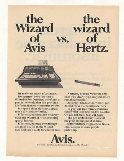 Wizard of Avis Computer vs Hertz Pen (1973)