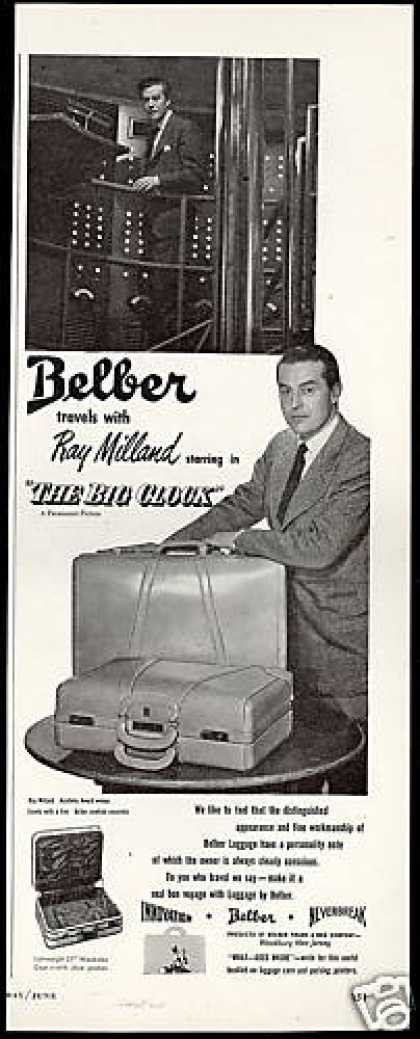 Ray Milland Photo Belber Luggage Vintage (1948)