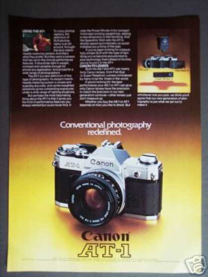 Canon At-1 35mm Slr Camera (1977)
