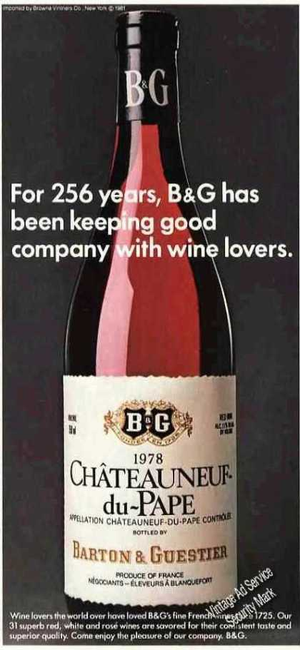 B&g French Wines Since 1725 (1983)