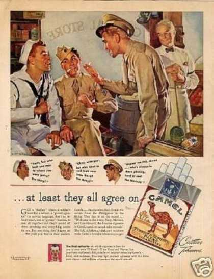 "Camel Cigarettes Ad ""At Least They All Agree... (1945)"