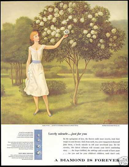 DeBeers Diamonds Lovely Miracle De-Beers (1958)