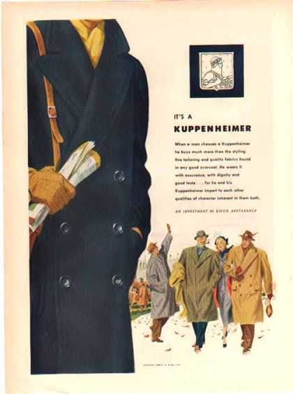 Kuppenheimer Fashion – P Coat – Sold (1948)