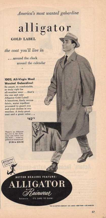 Alligator Rainwear Mens Coat (1950)