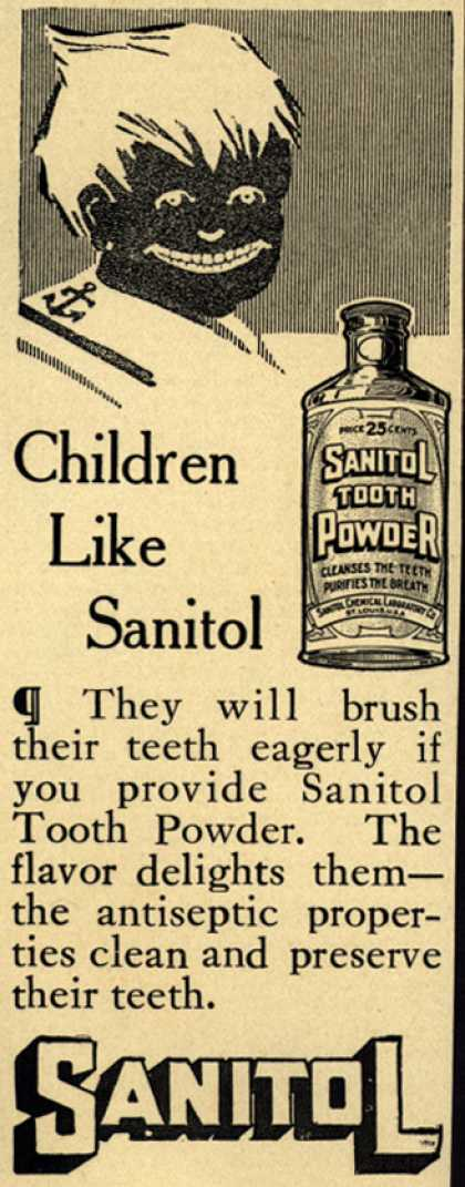 Sanitol Chemical Laboratory Company's Sanitol Tooth Powder – Children Like Sanitol (1911)