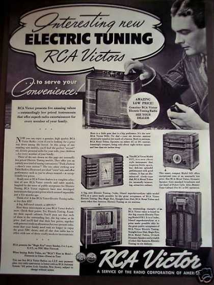 Rca Victor Electric Tuning Radio (1938)