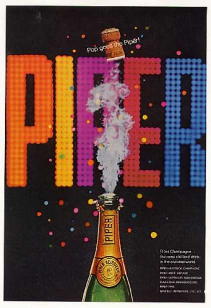 Piper-Heidsieck Champagne Bottle Pop Cork (1968)
