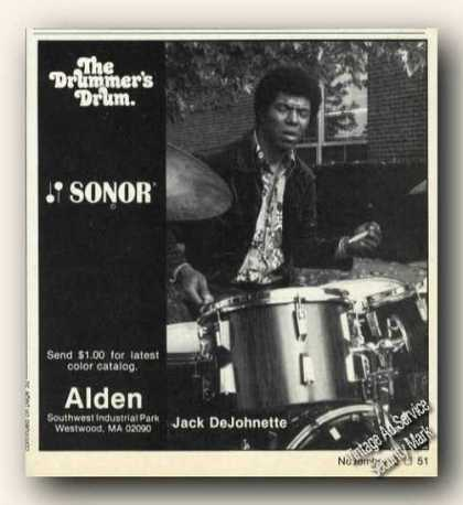 Jack Dejohnette Photo Sonor Dums Promo (1978)