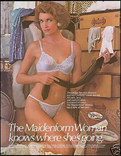 Maidenform Lace Lingerie Steamer Trunk Luggage (1986)