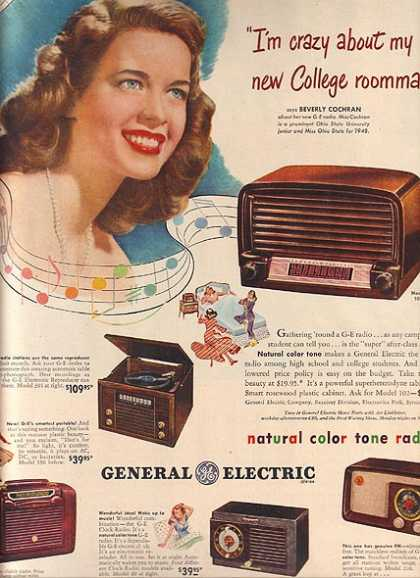 General Electric's Natural Color Tone Radios (1948)