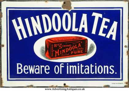 Hindoola Tea Sign