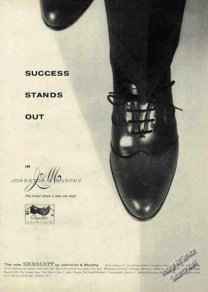 "Johnston & Murphy Shoes ""Success Stands Out"" (1956)"