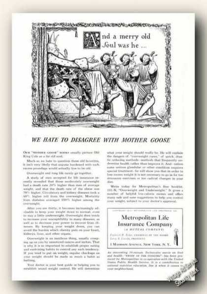 Metropolitan Life Merry Old Soul Disagree (1941)