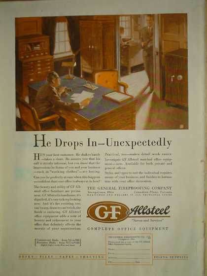 GF Allsteel Office Equipment Company Desks Files Safes Shelves (1929)