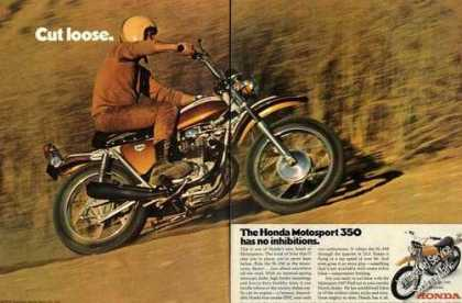 "Honda Motosport 350 Photos ""Cut Loose"" (1970)"