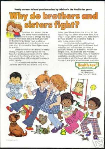 Health Tex Children Clothes Fighting Art (1973)