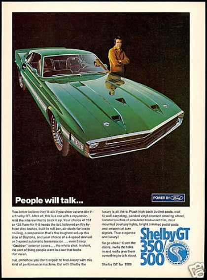 Ford Shelby GT 500 Green Car Photo (1969)
