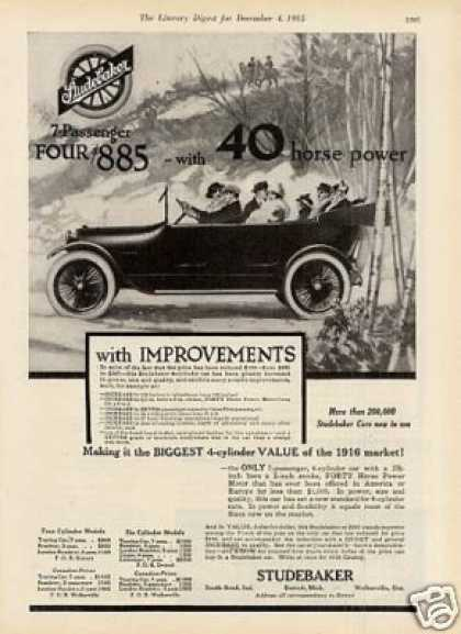 Studebaker 7-passenger Four Car (1916)