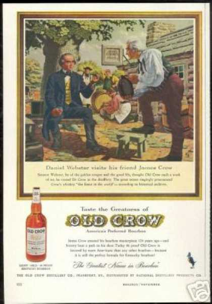 Senator Daniel Webster James Old Crow Whiskey (1959)