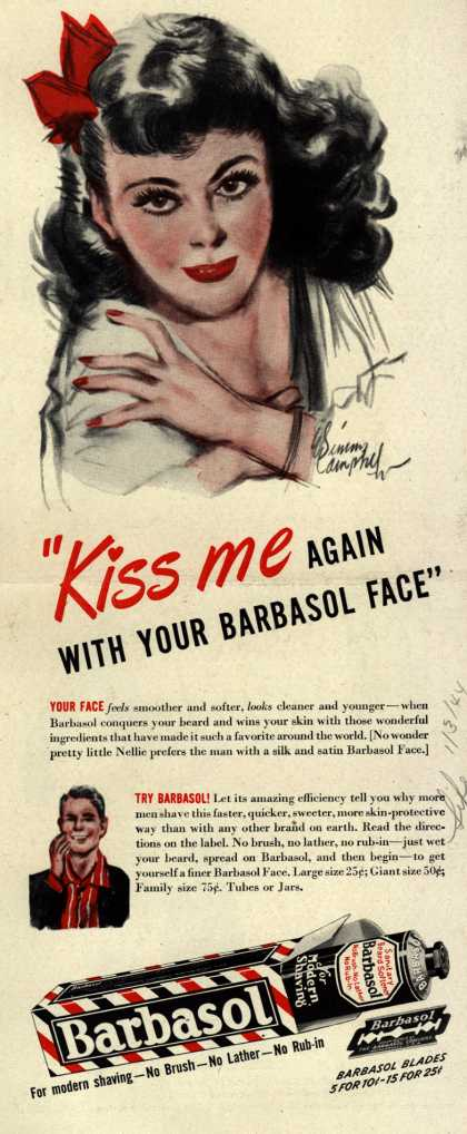 "Barbasol – ""Kiss me Again With Your Barbasol Face"" (1944)"