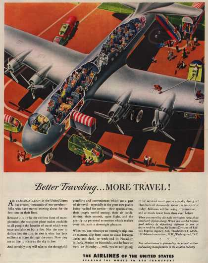 The Airlines of the United State's Air Travel – Better Traveling... More Travel (1945)