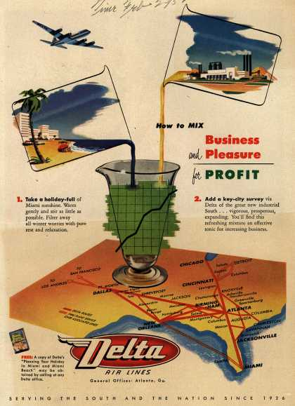 Delta Airline's Delta Air Lines – How to Mix Business and Pleasure for Profit (1952)