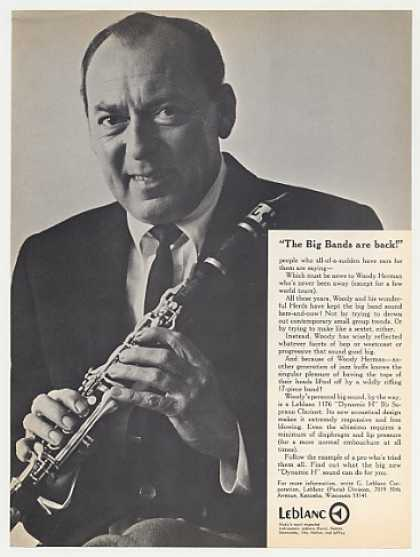 Woody Herman Leblanc Clarinet Photo (1968)