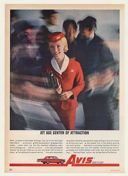 Avis Rent-A-Car Girl Jet Age Center Attraction (1962)