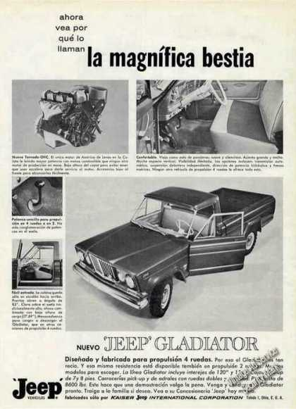 "Jeep Gladiator ""La Magnifica Bestia"" Ad In Spanish (1964)"