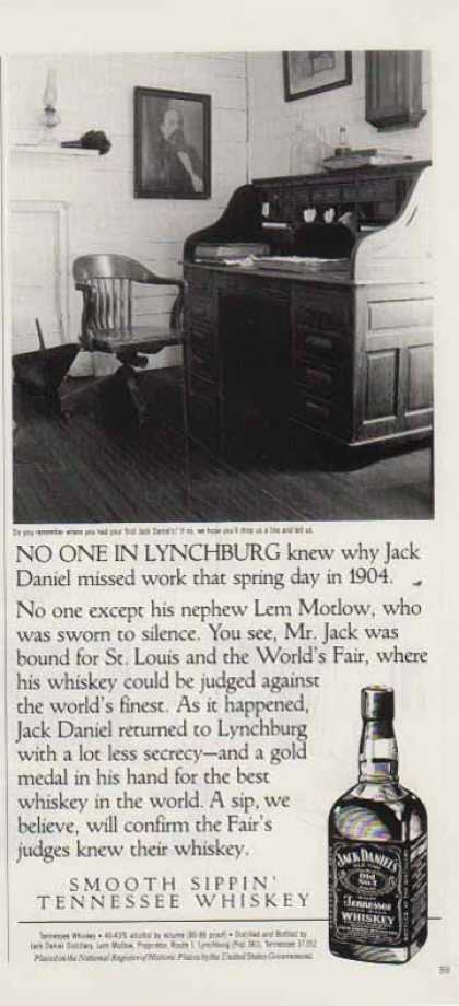 Jack Daniel's – No One In Lynchburg Knew… (1992)